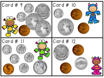 Counting Change Task Cards - Monster Money!  Grades 1-3