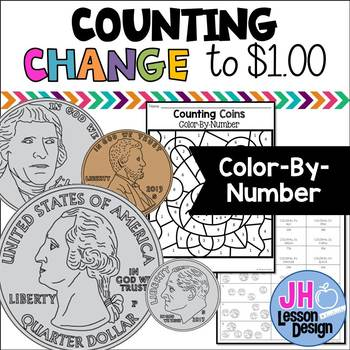 Counting Coins to 1.00: Color-By-Number