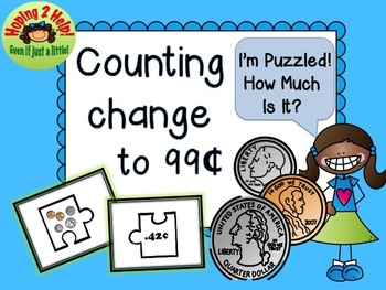 Counting Change to 99 Cents Activity