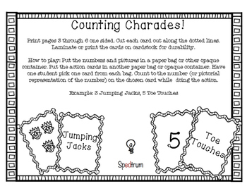 Counting Charades - Math Fluency Game