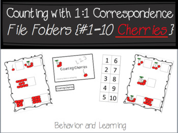 Counting Cherries 1-10 File Folder- for Students with Autism and Special Needs