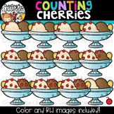 Counting Cherries Clipart {Math Clipart}