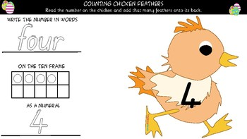 Easter Counting Chicken Feathers
