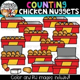 Counting Chicken Nuggets Clipart {Math Clipart}