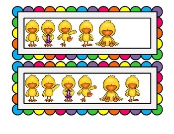 Math Center: Counting Chicks (1 - 20)