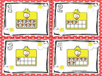 Counting Chicks:  LOW PREP Farm Themed Ten Frames Write the Room