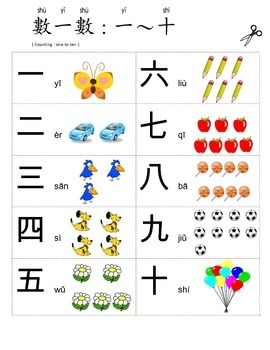 Counting Chinese 1 to 10