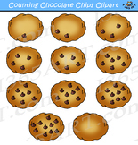 Counting Chocolate Chips Cookies Clipart