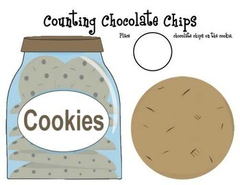 Counting Chocolate Chips Game or Counting Mat