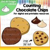 Counting Chocolate Chips on Cookies (Movable and Printable)