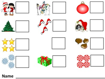 Counting Christmas 0-5 Math Activity