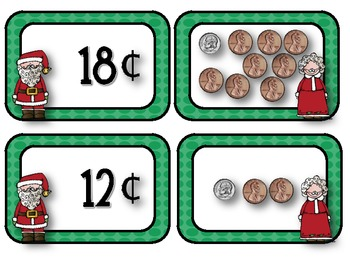 Counting Christmas Coins Freebie