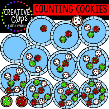 Counting Christmas Cookies: Christmas Clipart {Creative Clips Clipart}
