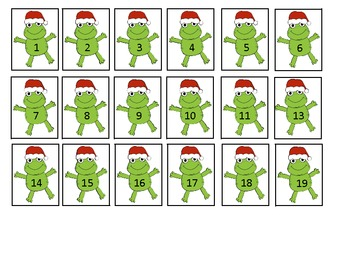 Counting Christmas Frogs