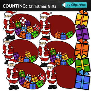 Counting Christmas Gifts Clipart By Clipartino Tpt
