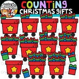 Counting Christmas Gifts Clipart {Christmas Clipart}
