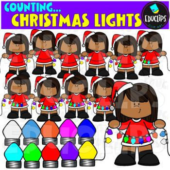Counting Christmas Lights Clip Art Bundle  {Educlips Clipart}