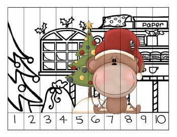Counting Christmas Preschool Puzzles
