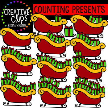 Counting Christmas Presents: Christmas Clipart {Creative Clips Clipart}