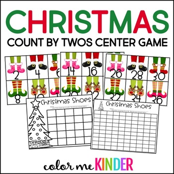 Count by Twos Christmas Shoe Center Game