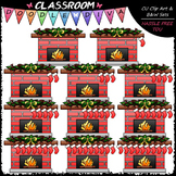(0-10) Counting Christmas Stockings Clip Art - Sequence &