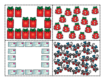 Counting Christmas-Teen Numbers...Count, Ten Frames, Compose/Decompose, Compare