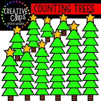 Counting Christmas Trees: Christmas Clipart {Creative Clips Clipart}