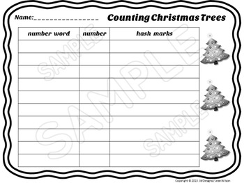 Christmas - Math Game - Counting Christmas Trees