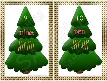 Christmas - Math Game - Counting Christmas Trees