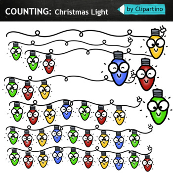 Counting Christmas light Clipart