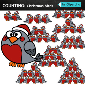 Counting Christmas Tree Clipart