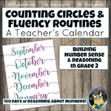 Counting Circles & Number Sense Routines: Calendar Grade 2 Math Fluency Warm Ups