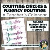 Counting Circles & Number Sense Routines: Calendar Grade 2 Math Fluency Warm Ups
