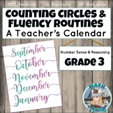 Counting Circles & Number Sense Routines: Grade 3 Calendar of Fluency Warm Ups