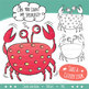 Counting Clip Art 0-20: Crabs