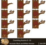 Counting Clip Art : Acorns | Fall Pictures