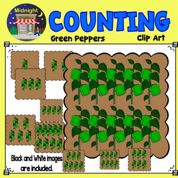 Counting Clip Art - Bell Peppers