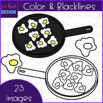 Counting Clip Art - Breakfast  Fried Eggs Counting {jen hart Clip Art}