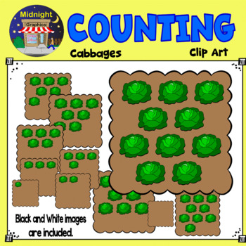 Counting Clip Art - Cabbages