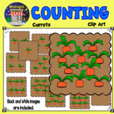Counting Clip Art - Carrots