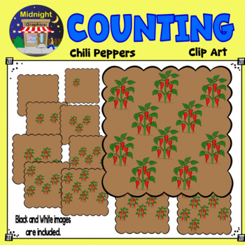 Counting Clip Art - Chili Peppers