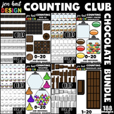 Counting Clip Art Club -Chocolate BUNDLE {jen hart Clip Art}