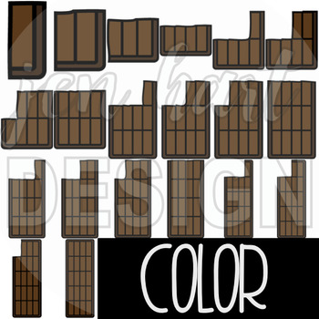 Counting Clip Art -Counting Chocolate Bar {jen hart Clip Art}