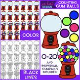 Counting Clip Art -Counting Gumballs {jen hart Clip Art}