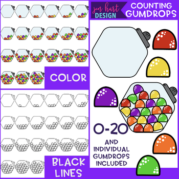 Counting Clip Art -Counting Gumdrops {jen hart Clip Art}