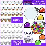 Counting Clip Art -Counting Gumdrops {jen hart Clip Art}