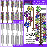 Counting Clip Art -Counting Lollipops {jen hart Clip Art}