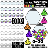 Counting Clip Art -Counting Wrapped Chocolates {jen hart C