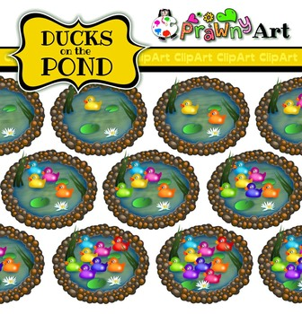 Counting Clip Art Ducks on a Pond