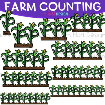 Counting Clip Art - Farm Counting {jen hart Clip Art}